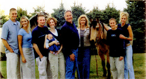 Dave and his family
